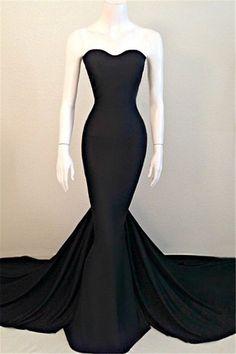 Do you love this mermaid sexy black evening party dress 2016? www.27dress.com