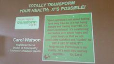 I so enjoy inspiring others! Www.drcarol.transform30.com