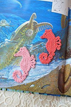 Häkeln Applikationen Seepferdchen Nähendes Handwerk Strand thema verschönerung liefert gehäkelte Ozean Nähzubehör Applikation Nautischer Strand hochzeits dekoration Party bevorzugungen Satz von 2 Stücke