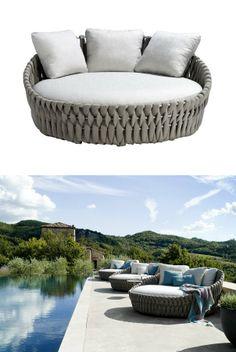 Fabric #garden bed TOSCA by TRIBÙ   #design Monica Armani