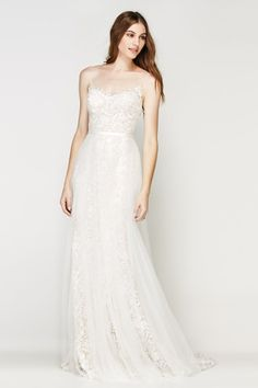 Shop designer bridal gowns like the Lazio Overskirt Style 56900 dress by Willowby and other bridal accessories at Blush Bridal. Soft Wedding Dresses, Ethereal Wedding Dress, Designer Wedding Dresses, Wedding Gowns, Lace Dresses, Wedding Bells, Bridal Tops, Bridal Separates, Blush Bridal