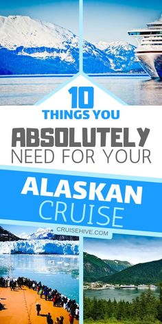 10 Things You Absolutely Need for Your Alaskan Cruise-- Alaska cruise packing tips for your next cruise vacation. We want you to be prepared before you head off. Packing For Alaska, Alaska Cruise Tips, Packing List For Cruise, Alaska Travel, Alaska Trip, Carnival Cruise Alaska, Packing Lists, Cruise Port, Cruise Travel