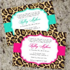 LOVE these! Leopard baby shower invites!