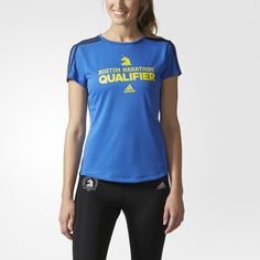 You've trained. You've qualified. You've earned it. This Boston Marathon® Qualifier Tee shows the world you've scored a spot in the most legendary 26.2 out there. The women's running t-shirt is built to wick away sweat and has a 2017 Boston Marathon® logo below the back collar.
