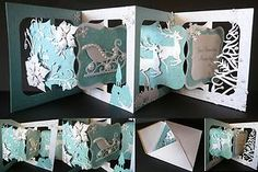Very pretty Accordion Album project. Love the lacy tree on the right!