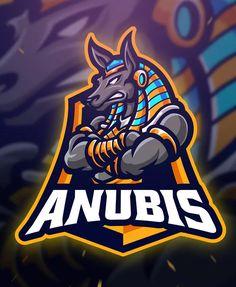Anubis Sport and Esport Logo Template AI, EPS. Download Esports Logo, Free Logo, Minimal Logo, Great Logos, Anubis, Cool Logo, Typography Logo, Logo Design Inspiration, Logo Templates