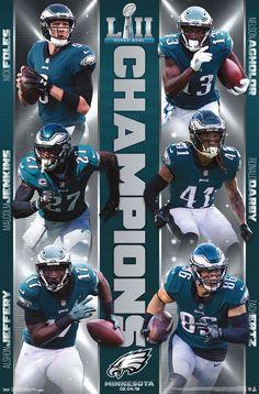 Details about PHILADELPHIA EAGLES Super Bowl LII 2018 OFFICIAL CHAMPIONSHIP  SUPERSTARS POSTER f3287dace