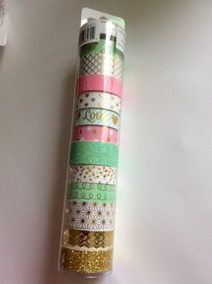 12 Pink & Mint Washi Tape Set RECOLLECTIONS Blush door TrulyTina