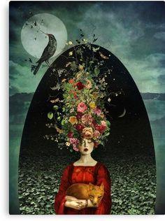 The Ballad of Two Moons - surreal art of Marta Orlowska Art And Illustration, Art Fantaisiste, Art Sculpture, Ouvrages D'art, Fine Art, Moon Art, Whimsical Art, Quirky Art, Surreal Art