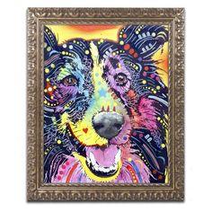Trademark Fine Art Dean Russo Sheltie Framed Wall Art - ALI1553-G1114F