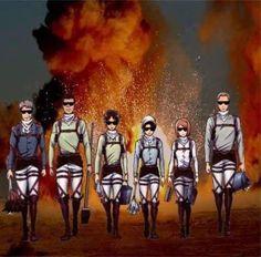 Levi Squad - Attack on Titan / Shingeki no Kyojin Levi Ackerman, Levi X Eren, Armin, Mikasa, Attack On Titan Comic, Attack On Titan Ships, Attack On Titan Fanart, Soul Eater, Fanarts Anime