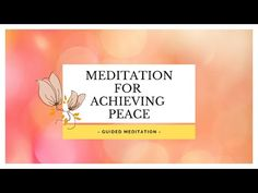 My Dear ones, I have new meditation for you - Meditation for PEACE, LOVE and LETTING GO! This is short, 12 minutes guided meditation for achieving your inner peace and love and letting go of anxiety and control. ♥ This is meditation for finding piece, and I hope it will serve anyone who is looking…