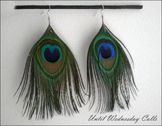 Feathered Earrings by Cara.Mia, via Flickr