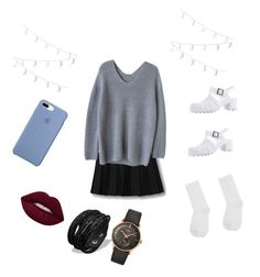 """"""":))"""" by anaiiiiiii ❤ liked on Polyvore featuring WithChic, Ranee, M&Co and Longines"""