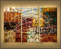 """""""Ocean City"""" - Visions - Abstract Painting by Carmen Guedez www.carmenguedez.com"""