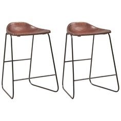 Industrial Style Counter Height Saddle Seat Stools