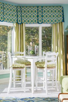 Window curtains Fun Diy Crafts fun diy crafts for toddlers Corner Window Treatments, Custom Window Treatments, Window Coverings, Bay Window Curtains, Drapes Curtains, Drapery Panels, House Blinds, French Country Cottage, Window Styles