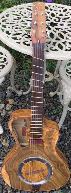 [ƒrettedchordophone 2015] Raulo Guitars Electric Acoustic Resonator --- https://www.pinterest.com/lardyfatboy/..
