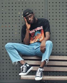 Sublime Tips: Urban Fashion Streetwear Guys urban fashion trends ripped jeans.Urban Fashion Spring C Spring Fashion Casual, Trendy Fashion, Mens Fashion, Trendy Style, 90s Style Men, Urban Style Outfits Men, Mens Streetwear Fashion, Classic Fashion, Trendy Hair