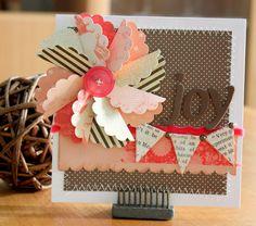 cute idea using scallop circles to make pinwheels