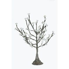 """ArcliteInc Cherry Blossom Tree 30"""" Table Lamp Leaf Color: Blue, LED Color: Green"""