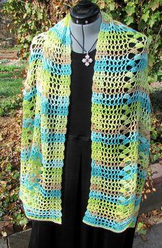 Ruthie's Sunshine Scarf/Shawl By Nancy L Drew - Free Crochet Pattern - (ravelry)