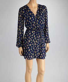 Take a look at this Navy Owl Tulip Dress by Reborn Collection on #zulily today!