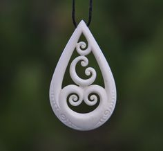 Family of five- Maori symbol for family,unity & love. Hand carved in bone by JackieTump on Etsy                                                                                                                                                     More