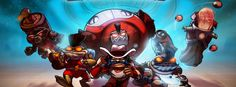 Awesomenauts video game facebook cover