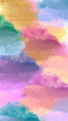 Rainbow Cloudy IPhone Wallpaper   Fondos De Pantalla De