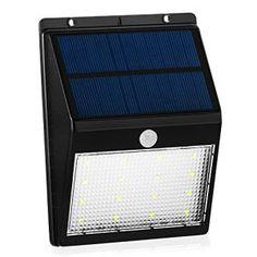 {6ième Version} Grandbeing® Lampe Solaire 16 led Sans fil à Detecteur de Mouvement Eclairage Extérieur Etanche avec plus 12 Heures…