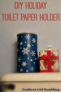 DIY Tissue Holder DIY Holiday Toilet Paper Holder DIY Tissue Holder