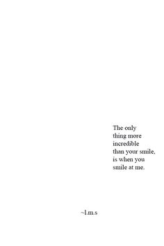 when you smile at me |