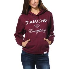 Diamonds may be a girls best friend but the Diamond Everything pullover hoodie from Diamond Supply Co. is sure to be yours.