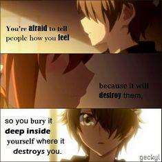 Keeping my feelings all to myself..  Anime: Mikagura School Suite