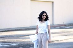 Tee and trousers