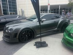Bentley Coupe WITH a body kit. #Dope
