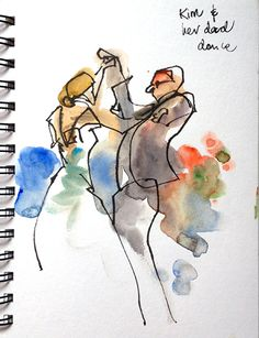 Urban Sketchers: Finger Painting at a Wedding