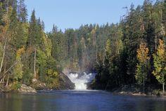 Jyrävä waterfalls in Kitka river, Oulanka National Park, Kuusamo, Finnish Lapland