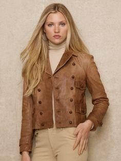 Leather Biker Jacket - Ralph Lauren
