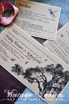 The Rosa Rustic Wedding Invitation