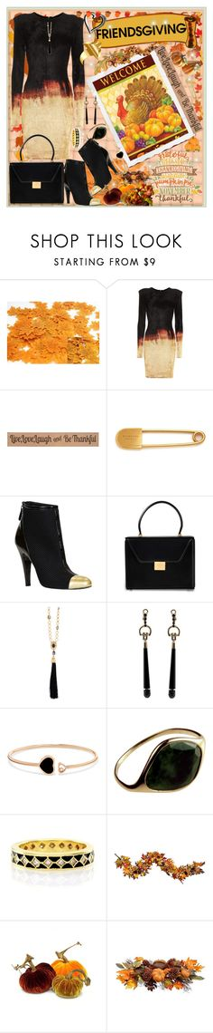 """Friendsgiving"" by jeneric2015 ❤ liked on Polyvore featuring Balmain, Sykes, DutchCrafters, Burberry, Chanel, Victoria Beckham, Oscar de la Renta, Gucci, Chopard and Hidalgo"