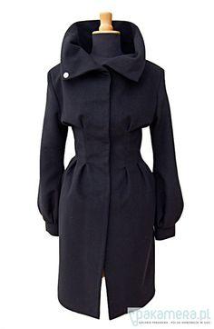 kurtki i płaszcze-Lilie płaszcz 100% wełna