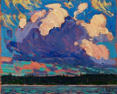 (Tom Thomson, Evening Cloud, 1915, oil on composite wood-pulp board, 21.7 x 26.8 cm, The Thomson Collection © Art Gallery of Ontario.)