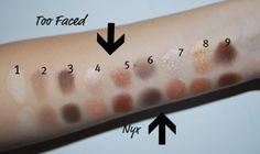 Too Faced vs Nyx eye palette