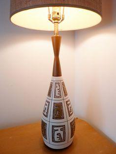 Vintage Atomic Era Lamp by PopBam on Etsy