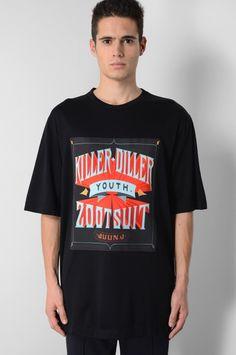 JUUN. J KILLER DILLER OVERSIZED BLACK T-SHIRT