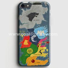 Map Game Of Thrones 1 iPhone 7 Case | casefantasy