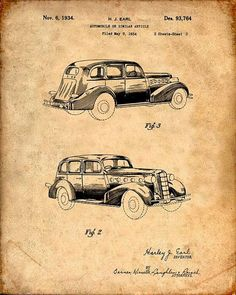 Patent Print of a Buick Patent Art Print Patent by VisualDesign
