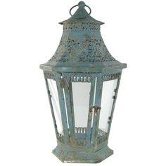 Antique Turquoise Six Pane Lantern | Shop Hobby Lobby
